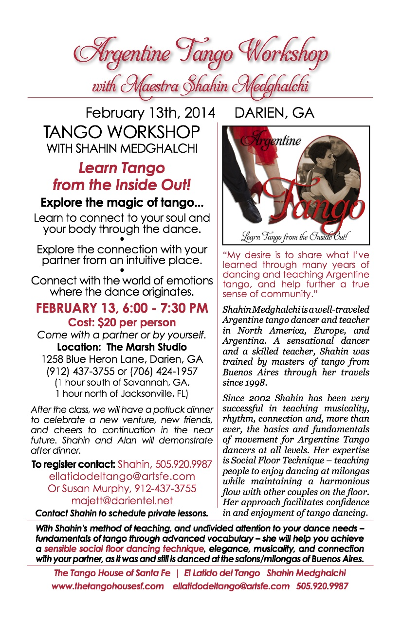 Tango Workshop - Darien/Savannah, GA